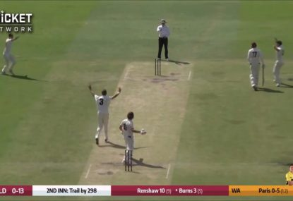 Joe Burns absolutely filthy after copping dicey LBW