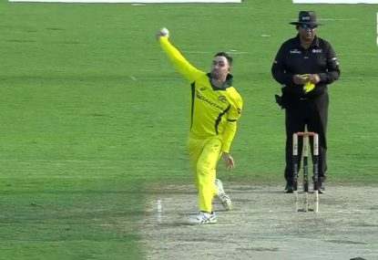 Glenn Maxwell unveils new bowling action