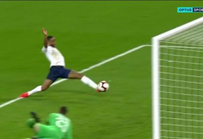 Sterling hat-trick fires England to massive win