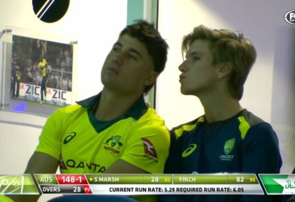 Stoinis and Zampa's dressing room shenanigans
