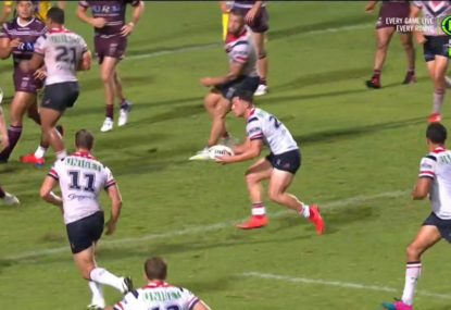 Roosters son of a gun's classy try assist on debut