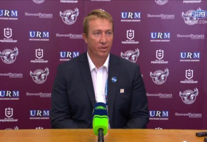 Trent Robinson criticises Brookvale's surface after Brett Morris' knee injury