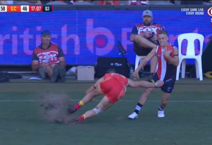 Cam Mooney blasts 'absolutely atrocious' Marvel stadium surface