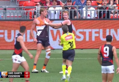 Bombers defender penalised for 'dangerous' sling tackle