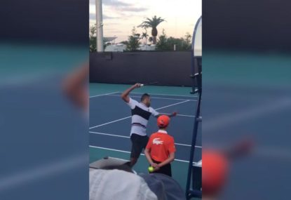 Nick Kyrgios lets fly after Miami Open doubles defeat