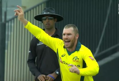 Part-timers rejoice as Aaron Finch dismisses Game 1 centurion
