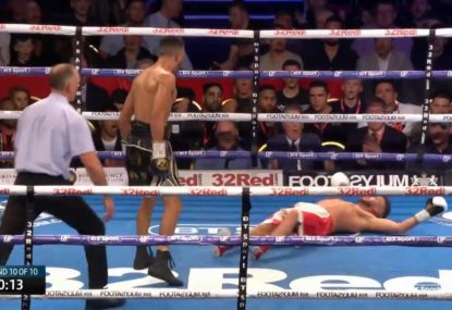 British boxer's epic KO with seconds left after opponent taunted him