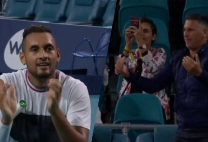 Heckler ejected after all-time exchange with Nick Kyrgios mid-match