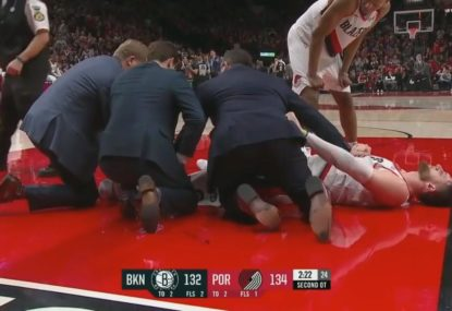 GRAPHIC WARNING: Portland star in absolute agony after sickening leg break