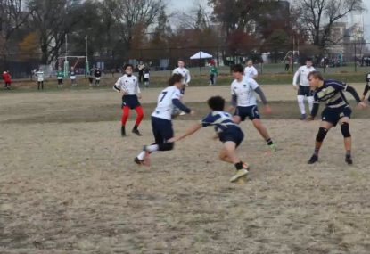 Fleet-footed kid slips through like soap for runaway try