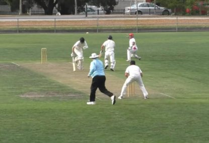 Bumbling batsman runs out of luck