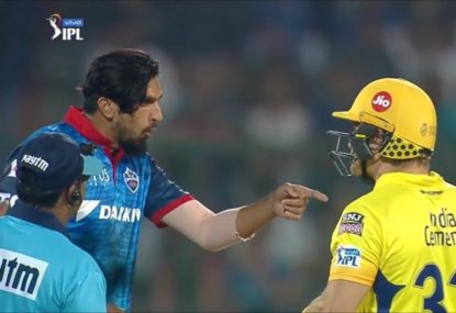 Shane Watson in heated altercations with Ishant Sharma AND Kagiso Rabada