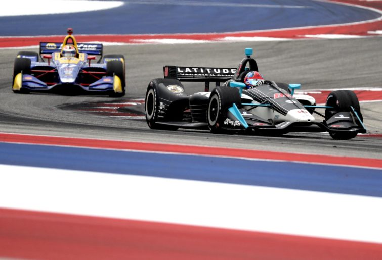 Colton Herta leads the IndyCar Classic in Austin, Texas.