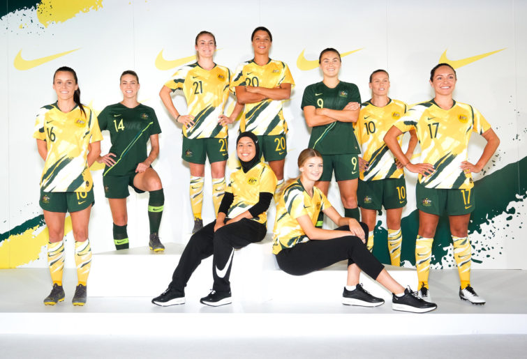 66fa5efd0ec Matildas unveil their first ever exclusive kit for the World Cup ...