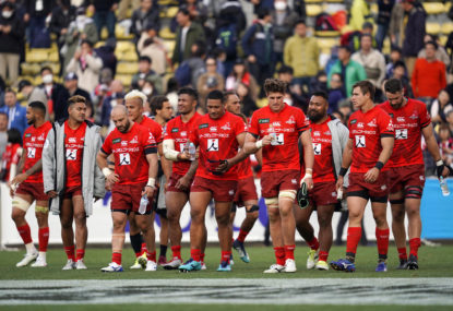 Sunwolves players show dejection