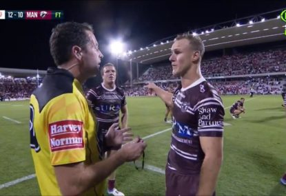 DCE blows up at ref after clear last-second penalty is missed