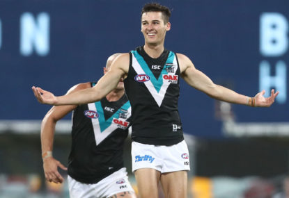 Port Adelaide stun high-flying Geelong