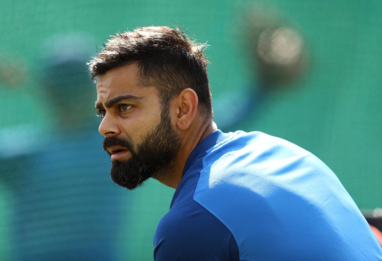 Virat Kohli at training.