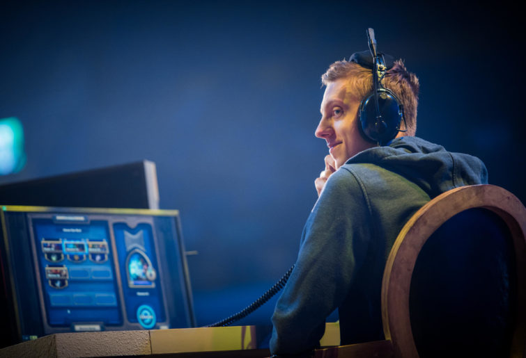 Poland's A83650 (Kacper Kwieciński) at the Hearthstone World Championships in Taiwan.