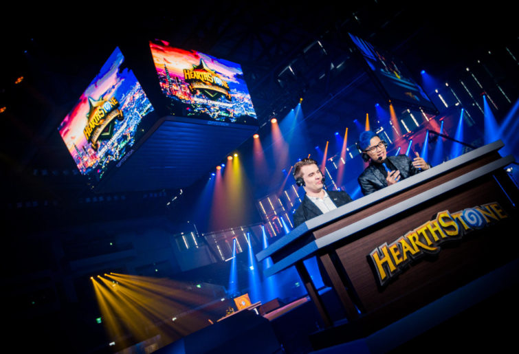 Commentators at the 2019 Hearthstone World Championship in Taiwan.