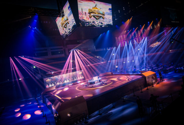 The stage at the Hearthstone World Championships in Taiwan.