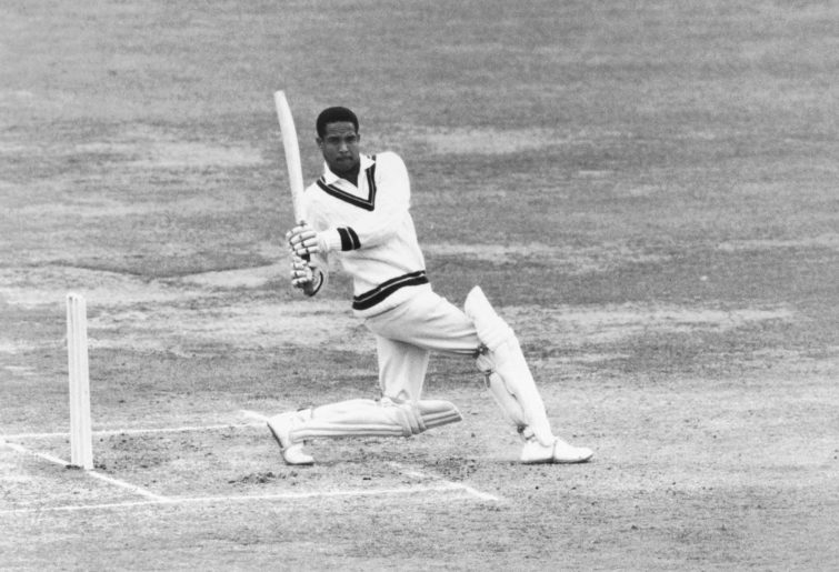 West Indies' Gary Sobers pulls the ball for a four