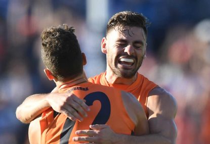 GWS Giants vs Fremantle Dockers: AFL live scores, blog