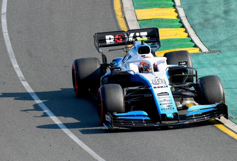 Williams driver on track in the No. 88 Williams at the 2019 Australian Grand Prix