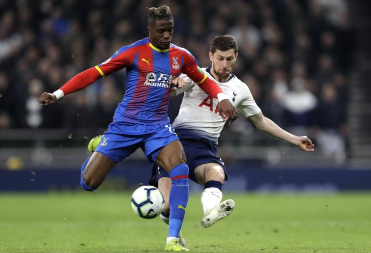 Crystal Palace's Wilfried Zaha duels with Tottenham's Ben Davies