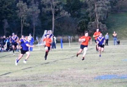 Wingers step leaves defenders ankle broken