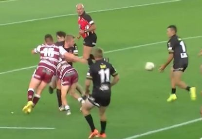 Big boppa outsmarts three defenders to deliver sneaky try-assist