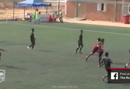 Dirty deflection throws keeper out for lucky long range goal