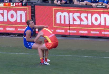 Pearce Hanley nearly annihilates himself on Jackson Macrae