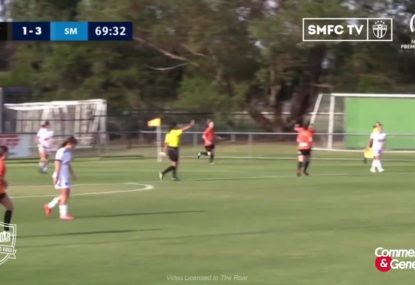 Bayside United star scores a stunner from IMPOSSIBLE ANGLE