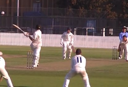 TONK! Possibly the most beautiful pull shot in cricket