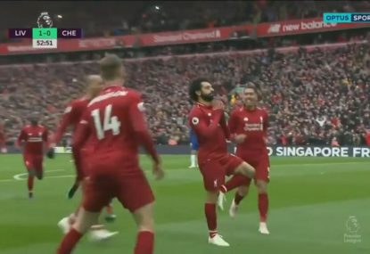 Mohamed Salah produces 'Worldie and a half' to put Liverpool back on top