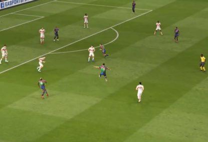 Peak Zlatan karate volley goal is FIFA at it's best