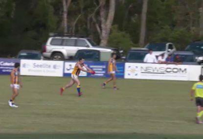 Local footy player morphs into Malcolm Blight with monstrous goal