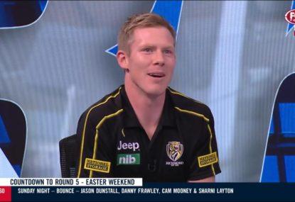 Jack Riewoldt defends Ben Brown over controversial flop