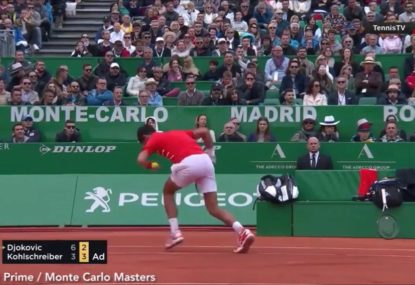 Novak Djokovic destroys innocent racquet in epic blow-up