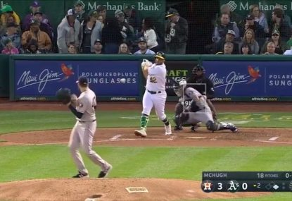 Pitcher avoids rapid ball like he's in a 'Matrix' scene