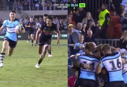 Sharks teen's sound barrier-breaking try sparks incredible come back