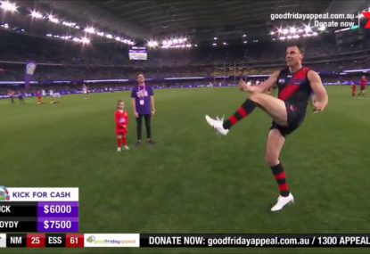 Matthew Lloyd winds back the clock with half time set shot masterclass