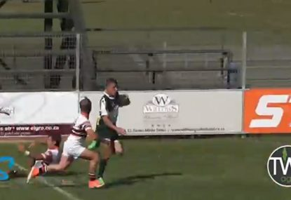 Epic kick return ruined by embarrassing bombed try