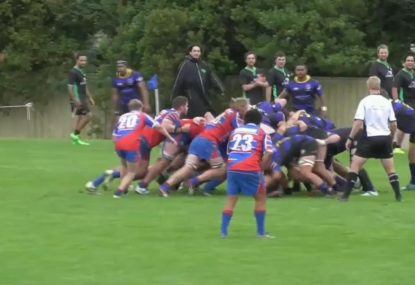 Forwards absolutely dominate the scrum to score miraculous try