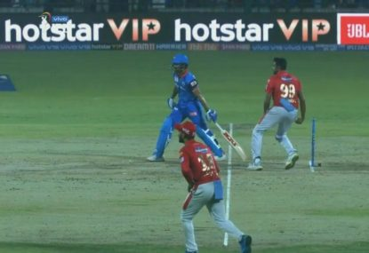 Shikhar Dhawan's cheeky taunt as Ravi Ashwin tries to catch him out of his crease