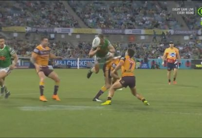 Canberra seal victory with 'falcon-assisted' try