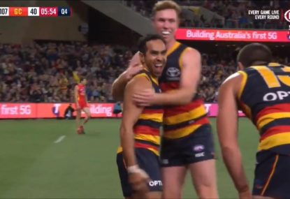 Has Eddie Betts just kicked another Goal of the Year in game 300?
