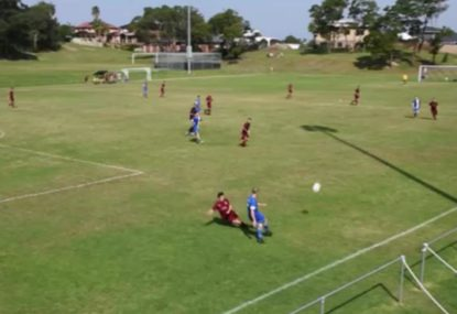 Defender gets brutally wiped out by very, VERY late slide tackle