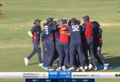 The super-dramatic, totally bonkers final over between Namibia and the USA